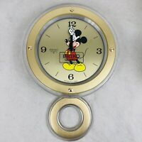 Vintage Seiko Quartz Disney Mickey Mouse Pendulum Wall Clock Rare Not Working