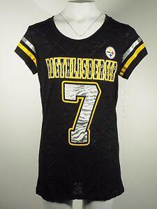 NEW Pittsburgh Steelers Teen Girls NFL official Sheer Shirt Ben Roethlisberger