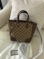New Authentic Gucci Crossbody Bag Women Purse Brew Guccissima Handbag