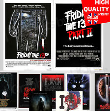 Friday the 13th Horror Movie Franchise Posters | A4 A3 A2 A1 | Wall Decal Poster
