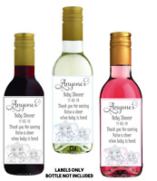 8 MINI personalised WINE LABELS Baby shower gift, favour, present, VERY CUTE!