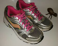 Saucony Oasis Running Training Shoes Women's 8 Silver Gray Pink Gym GUC