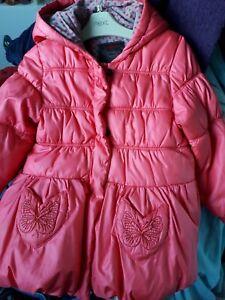 Catimini Girls Coral Winter Coat Age 5 Next Day Post