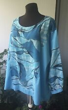 Size 16,18,20,22,24, Cotton Tunic, Turquoise, Lagenlook , Lovely And Comfor