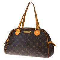 Authentic LOUIS VUITTON Montorgueil PM Tote Shoulder Bag Monogram M95565 65JC016