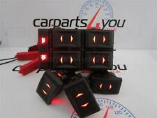FORD MONDEO MK3 01-07 RED LED 4 WAY ELECTRIC WINDOW SWITCHES SET + FREE UK POST