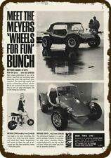 1969 MEYERS MANX TOW'D DUNE BUGGY & LYNX MINIBIKE VintageLook DECORATIVE METAL S