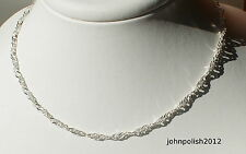 Silver 925 Twisted Curb  Chain