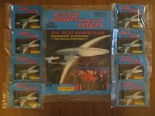 1992 Star Trek The Next Generation Factory Sealed Sticker Album + 8 sealed packs