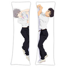 New Evangelion Male Anime Dakimakura Japanese Hugging Pillow Cover MGF-59018
