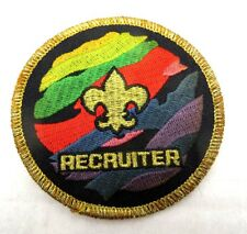 Boy Scouts of America BSA - Adult Position Patch - Recruiter - Gold Mylar Border