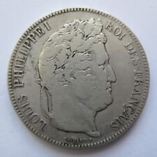 S0205 - Frankreich 5 Francs, Louis Philippe I, 1842 BB, Silber