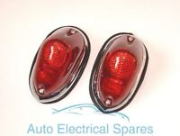 Lucas type L549 rear lamp / light unit RED COMPLETE x 2 MGA TRIUMPH TR3