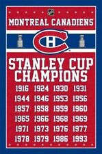 MONTREAL CANADIENS ~ 24 TIME CHAMPIONS 22x34 POSTER NHL Hockey Stanley Cup