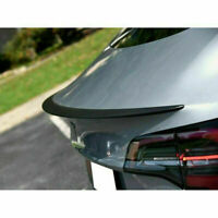 For 2017-2019 Tesla Model 3 ABS Carbon Fiber Style Tail Wing Rear Spoiler Trunk