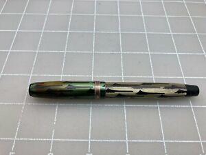 Judd's Vintage Green Toothbrush Parker Duofold Fountain Pen 14kt Nib MissingClip