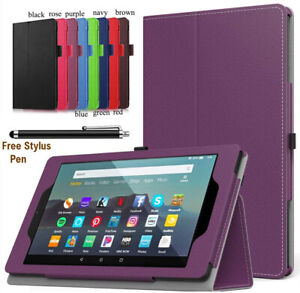 """Universal Book Flip PU Leather Case Cover For All Amazon Kindle Fire 7"""" 10"""" Tab"""
