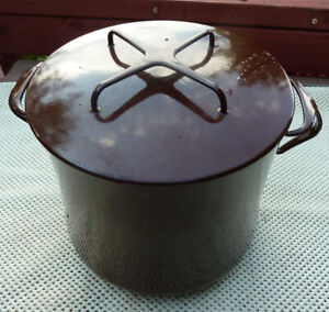 Dansk Kobenstyle Soup Stock Pot 7.5 Qt. France Brown Enamel