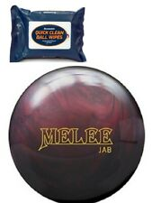 15lb Brunswick MELEE JAB BLOOD RED Pearl Reactive Bowling Ball & FREE Ball Wipes