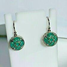 DeLatori ~ Sterling Silver ~ Amazonite Gemstone Earring ~ 7.60 cttw