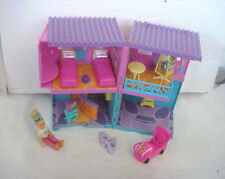 POLLY POCKET HOTEL WITH FURNITURE CAR ETC