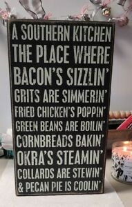 Southern Kitchen Sign Primitives By Kathy Phillips, Inc.  Box sign