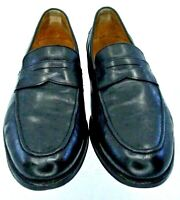 Cole Haan Grand.OS Penny Loafer Men's 11 M Black Leather Apron Toe Slip On Shoes