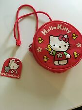 Vintage Hello Kitty Red Mini Shoulder Bag.  PU Circle Purse Handbag.