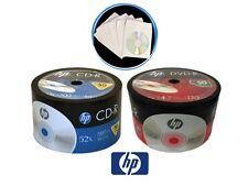 100 HP Logo Blank Disc COMBO (50 16x DVD-R & 50 52x CD-R) + 100 Paper Sleeves