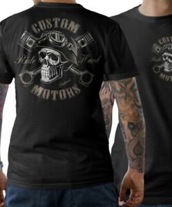 Biker Skull T-Shirt Garage Motorrad Schrauber Chopper Totenkopf Herren S-5XL