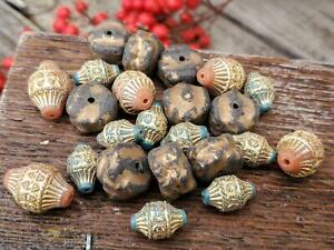 Destash lot Bead Soup Mix of Vintage Acrylic Beads for Unique DIY Jewelry Making