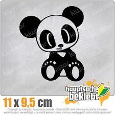 Drift Panda 10 x 11 cm JDM Decal StickerAuto Car Weiß Scheibenaufkleber