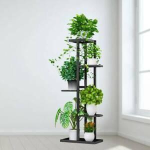 5 Tiers Metal Flower Plant Pot Stand Display Shelf Garden Rack UK Stock