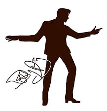 Billy Fury Silhouette and Autograph Design Car Decall/Sticker