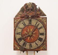 Rare Herrschaftliche antike Eisen Spindel Uhr Vorder Zappler Glocke geschmiedet