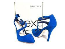 Next Ladies heels Blue suede Size 6 US, 6 AU, 36 EU, 3.5 UK. **NEW IN BOX**