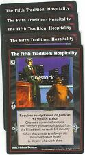 The Fifth Tradition: Hospitality x5 VTES Jyhad Lot C