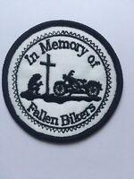 In Memory Of Fallen Bikers Patch Biker Scooter Harley Mod Rocker chopper RIP.