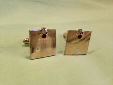 Vintage Swank cuff links gold tone with red stone,light wear/age,intact      J82
