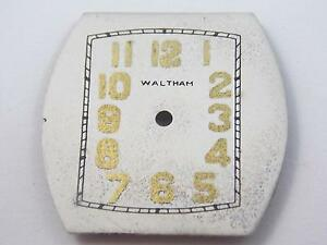 Waltham Watch Dial Vintage Mens 26.86mm by 27.11mm Gold Numeral Markers NOS