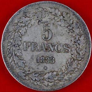 BELGIQUE 5 FRANCS LEOPOLD PREMIER 1833 ARGENT