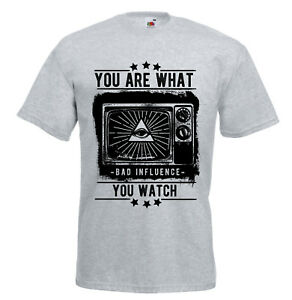 You are what you watch TV Mind control Truther Conspiracy T shirt