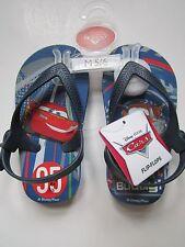 Disney Cars Boys Blue Flip Flop Sandals Shoes Medium 5/6 Hang on Buddy New