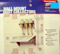 HO Walthers Cornerstone Wall Mount Dust Collectors