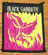 BLACK SABBATH ORIGINAL 80s VINTAGE EMBROIDERED WOVEN COLTH SEWING SEW ON PATCH