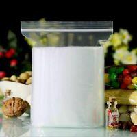100X Plastic Zip Lock Bags 4MIL Clear Plastic Bag Reclosable Small Baggies X2Y4