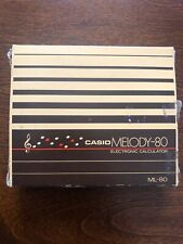 Vintage CASIO Melody - 80 Musical Electronic Calculator w/Case & Box