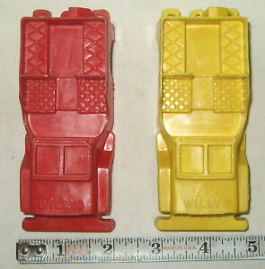 2 Marx 1950's Plastic WILLY'S JEEPS For Train Display or Playsets