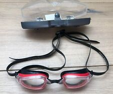 Aqua Sphere Child's Swim Goggles -Made in Italy - Red/Black Clear Lens