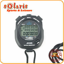 JEX500 Professional Athletics Stopwatch 100 Lap Memory Waterproof Sports Timer